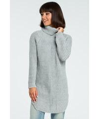 Perfect Pletený dlouhý svetr s rolákem a rozparky na bocích - UNI 8667eed77f