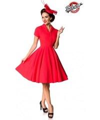4bb15ac3b3f0 Ladné červené dámske vintage šaty Belsira Belsira 50151