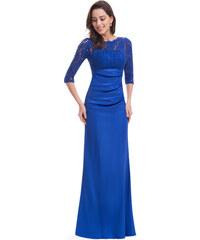 Ever-Pretty Elegantní světle modré večerní šaty s tříčtvrtečními rukávy f217cc3e43