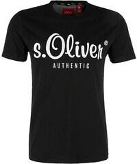 78a5b24f3e s.Oliver Pánské triko 13.901.32.4004.9999 Black