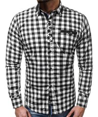 Černo-bílá kostkovaná košile ZAZZONI 9440 154b9c635d