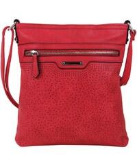 BELLA BELLY Červená menšia elegantná dámska crossbody kabelka 1735-BB 171ea69158d