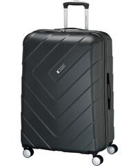Travelite KALISTO M antracit négykerekű bővíthető közepes bőrönd. Termék  részlete. Travelite KALISTO L antracit négykerekű karcálló nagy bőrönd 00a796857f