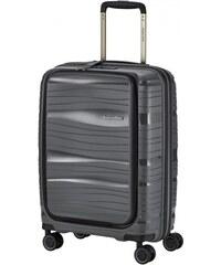 Travelite MOTION S antracit négykerekű laptoptartós extra könnyű kis kabin  bőrönd 08142df483
