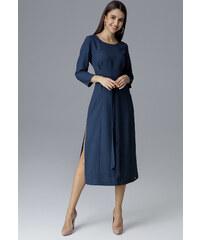 FIGL Modré šaty s mašľou M631 Navy 99b3f08455e