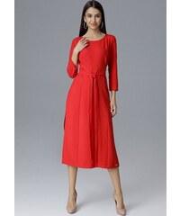FIGL Červené šaty s mašlí M631 Red c95afd245b