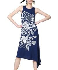 cbbea70b806 Desigual tmavě modré šaty Vest Wakiut - XS