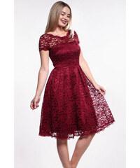b5f2b0b1403f iné Bordové čipkované šaty