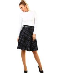 ae10d0cd0187 Glara Áčková sukňa s károvaným vzorom