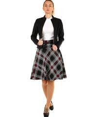 b72418741f8e Glara Áčková sukně s károvaným vzorem