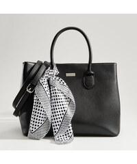b48f0ffaa8 Mohito - Shopper taška so šatkou - Čierna