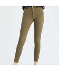 Sinsay - Nohavice s vysokým pásom - Khaki 6fe53c5f5c