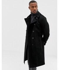669063f19b0e ASOS DESIGN shower resistant longline trench coat with belt in black - Black
