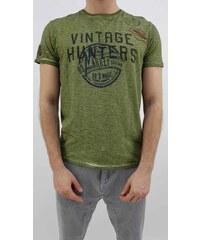 57092a389f Devergo pánské triko s nápisem krátký rukáv zelené