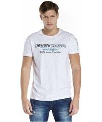 f51da891c0 Devergo pánské triko s nápisem na hrudi bílé