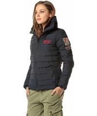 718c4b85ac Devergo dámská zimní bunda s vysokým límcem modrá