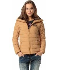 113f7fdd46 Devergo dámská zimní bunda s vysokým límcem okrová