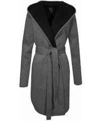 Devergo dámský trenčkot kabát s kapucí šedý 3b2453fca44