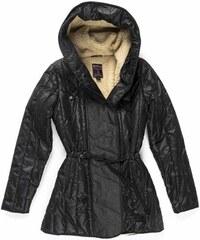 ce763c8576 Devergo dámská bunda s beránkem a kapucí černá