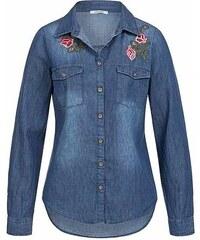 Hailys dámská košile Janina s nášivkou modrá 5516e2f91f