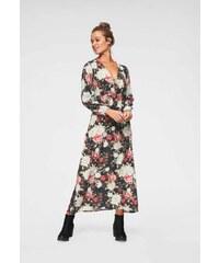 eaef85581fca Hailys dámské dlouhé květované šaty Mary černé