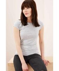 Moodo dámské triko s krátkým rukávem šedé f38d5a2ae8