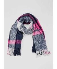 Oliver dámská pletená maxi šála modro růžová fc74a6e1bb