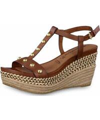 b0d76b1b38ec Tamaris dámské sandále na klínu 1-28322-28 hnědé