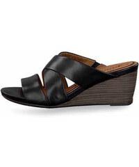 8d9715c34801 Tamaris pantofle na klínku 1-27234-24 černé