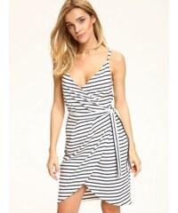 26c256f261e8 Top Secret dámské pruhované šaty na ramínka bílo modré