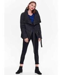 Top Secret dámská prošívaná zimní bunda s velkým límcem černá 030b48061f7