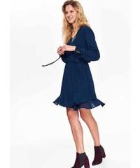 30bb7f88e7f6 Top Secret dámské krátké šifonové šaty s volánem modré