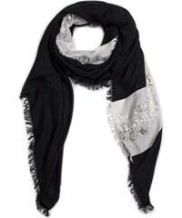 Krémovo-černý dámský vzorovaný šátek Calvin Klein - Glami.cz 27eb13a25d