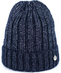 a6c2f579a88 Art of Polo Modrá pletená žebrovaná čepice