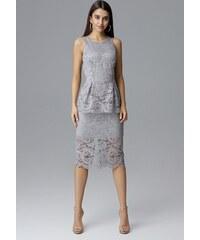 d1aad81e1a4b FIGL Šedé šaty s asymetrickým topom - M206 - Glami.sk
