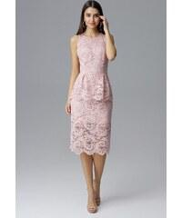 a638094a15cb FIGL Elegantné ružové šaty M640 Pink
