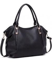Miss Lulu luxusní lehká měkká černá hobo kabelka přes rameno a84200fe4cb