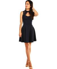c82d5a48264b Glara Spoločenské dámske šaty s čipkou