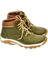 aefa95c554de KREZUS Pánske zelené kožené topánky CANO 40