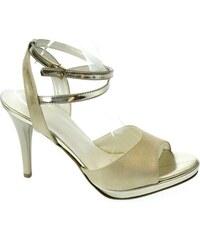 49b4dc11f38b JOHN-C Dámske zlaté sandále ESMERALDA 35