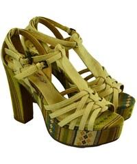 62df2fdf8b80 MERMAID Dámske béžové sandále SAY 40