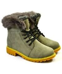 30843ed32 JUST MAZZONI Dámske sivé zimné topánky KLOE 36