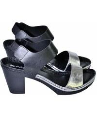 411f1f088ecc KARINO Dámske čierno strieborné sandále CIERON 36