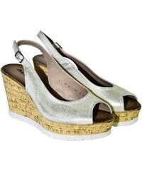 50390bb1528b ACORD Dámske letné zlaté sandále NETANA 36