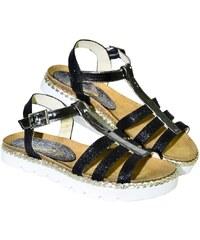 bb8a11c5ebab CARSONA Čierne kožené nízke sandále TARO 36