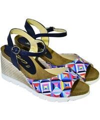 44bb57b8d3b68 Farebné kožené sandále na klinovom opätku Carsona TARA 36
