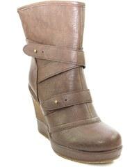 Hnedé Dámske čižmy a členkové topánky z obchodu John-C.sk  c6a11826c59