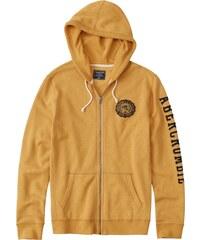 Abercrombie   Fitch Mikina s kapucí  CORE LOGO FULLZIP YELLOW  žlutá d0a556b1d49