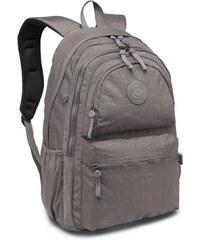 c51817fbbbf Lulu Bags (Anglie) Kvalitní šedý batoh s vodoodpudivou úpravou Miss Lulu