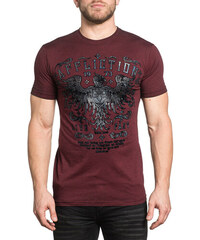 909d224e6da9 Affliction pánské tričko vínové ROYAL PINE